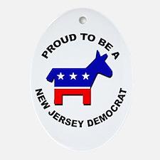Proud New Jersey Democrat Ornament (Oval)