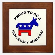 Proud New Jersey Democrat Framed Tile