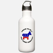 Proud New Jersey Democ Water Bottle