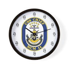USS Chief MCM-14 Wall Clock