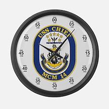 USS Chief MCM-14 Large Wall Clock