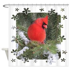 Spruce Cardinal Shower Curtain