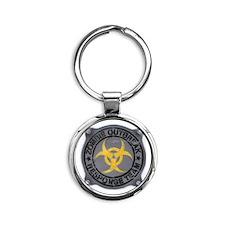 Zombie Outbreak Response Team Round Keychain