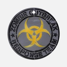 Zombie Outbreak Response Team Round Ornament