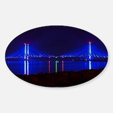 Indian River Bridge at Night Decal
