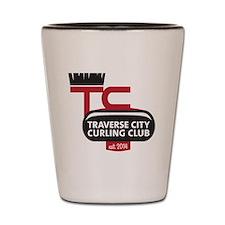 Traverse City Curling Club logo Shot Glass