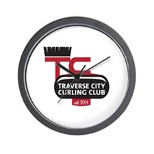 Traverse City Curling Club logo Wall Clock