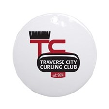 Traverse City Curling Club logo Round Ornament