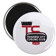 Traverse City Curling Club logo Magnet