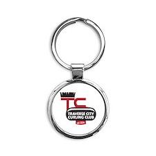 Traverse City Curling Club logo Round Keychain