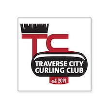 "Traverse City Curling Club  Square Sticker 3"" x 3"""