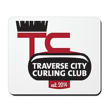 Traverse City Curling Club logo Mousepad