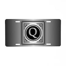 Deco Monogram Q Aluminum License Plate