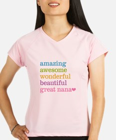 Great Nana - Amazing Aweso Performance Dry T-Shirt