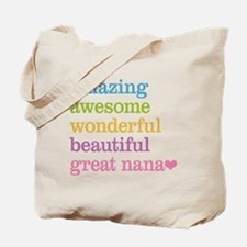 Great Nana - Amazing Awesome Tote Bag