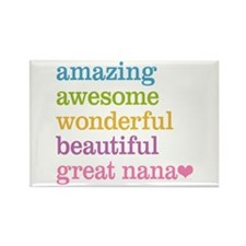 Great Nana - Amazing Awesome Rectangle Magnet