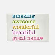 Great Nana - Amazing Awesome Rectangle Magnet