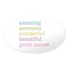Great Nana - Amazing Awesome Decal