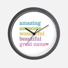 Great Nana - Amazing Awesome Wall Clock