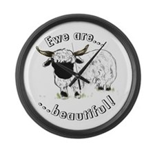 Ewe are beautiful! Large Wall Clock