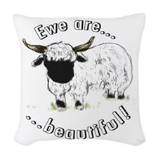 Ewe are beautiful! Woven Throw Pillow