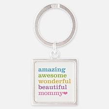 Mommy - Amazing Awesome Square Keychain