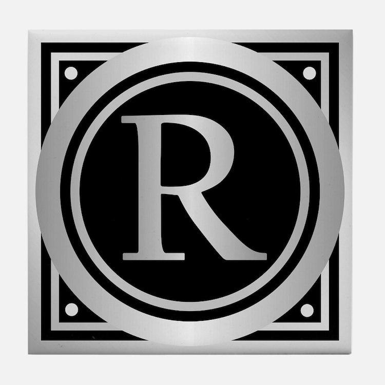 Deco Monogram R Tile Coaster
