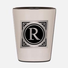 Deco Monogram R Shot Glass