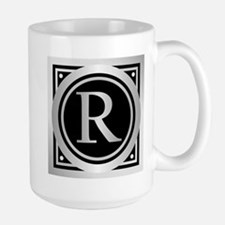 Deco Monogram R Mugs
