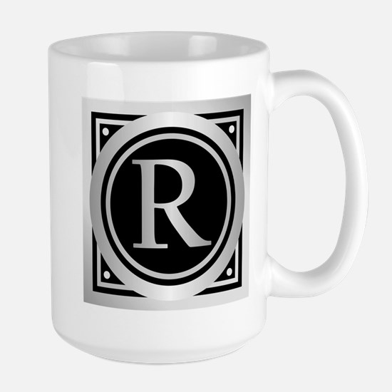 Deco Monogram R Mugs