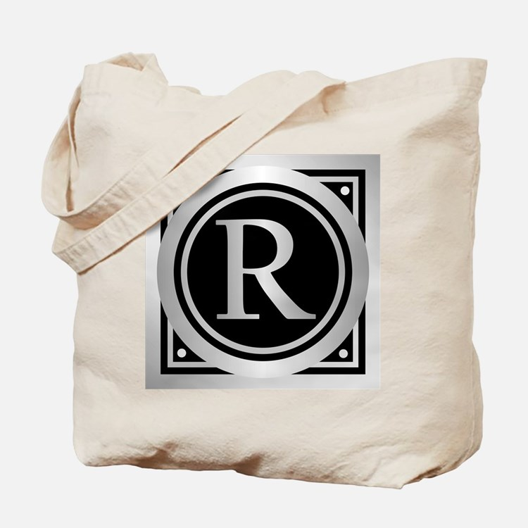 Deco Monogram R Tote Bag
