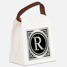 Deco Monogram R Canvas Lunch Bag