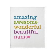 Nana - Amazing Awesome Throw Blanket