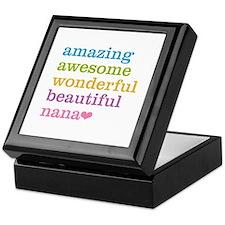 Nana - Amazing Awesome Keepsake Box
