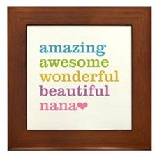Nana - Amazing Awesome Framed Tile
