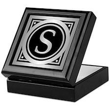 Deco Monogram S Keepsake Box