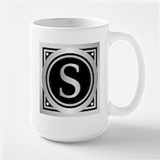 Deco Monogram S Mugs
