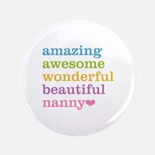 """Nanny - Amazing Awesome 3.5"""" Button (100 pack)"""