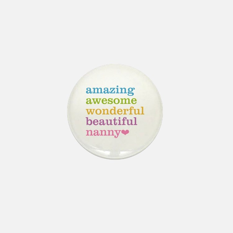 Nanny - Amazing Awesome Mini Button (100 pack)