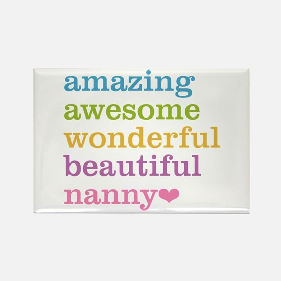 Nanny - Amazing Awesome Rectangle Magnet