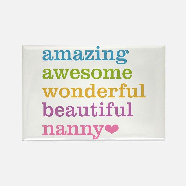 Nanny - Amazing Awesome Rectangle Magnet