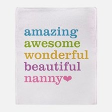 Nanny - Amazing Awesome Throw Blanket
