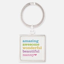 Nanny - Amazing Awesome Square Keychain