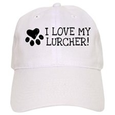 Cute Lurcher dog Baseball Cap