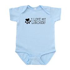Cute Lurcher dog Infant Bodysuit