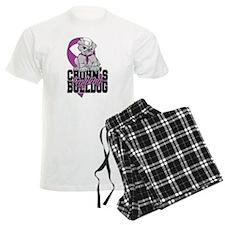 Crohns Fighting Bulldog Pajamas