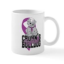 Crohns Fighting Bulldog Mug