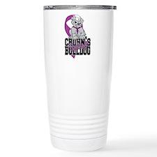 Crohns Fighting Bulldog Travel Mug