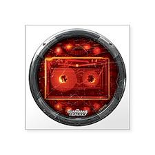 "Star Lord Cassette Round Square Sticker 3"" x 3"""