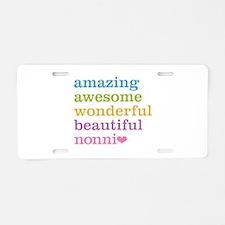 Nonni - Amazing Awesome Aluminum License Plate